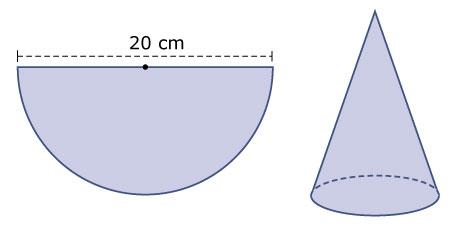 Formules voor omtrek en oppervlakte - Halve cirkelbank ...
